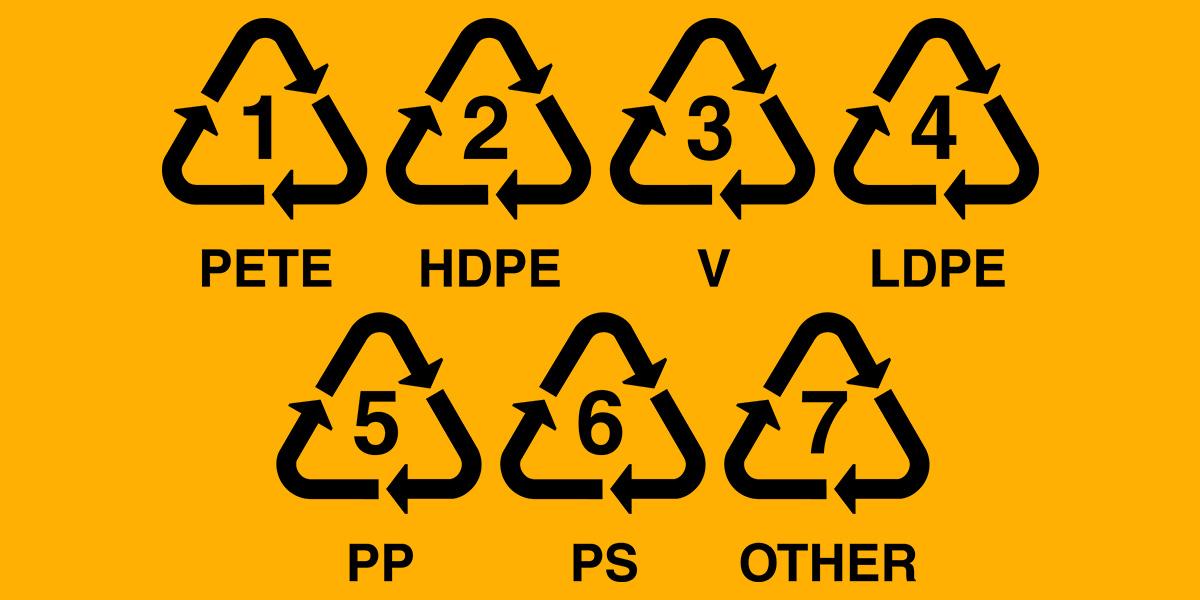 Códigos de tipos de plásticos